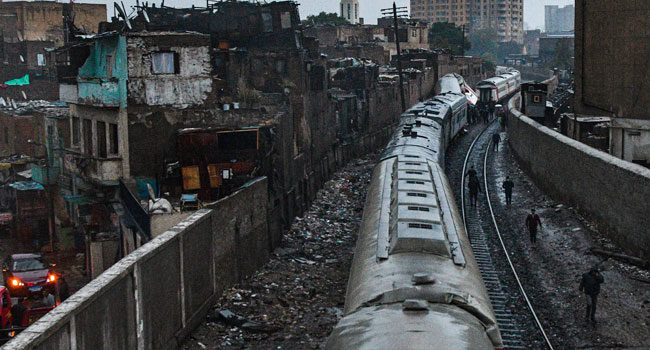 13 Injured As Trains Collide In Cairo
