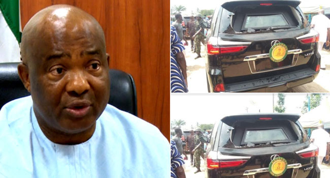 Angry Imo Youths Attack Governor Uzodinma's Convoy