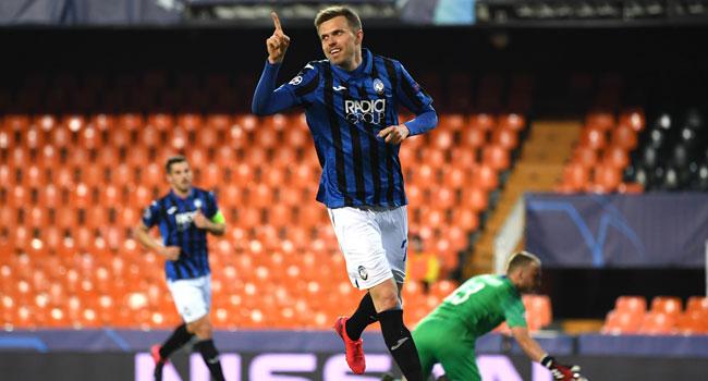 Champions League: Four-Goal Ilicic Guides Atalanta Into Quarter-Final