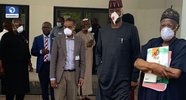 Boss Mustapha, Lai Mohammed, Others Visit Abba Kyari's Office Amid COVID-19 Speculations