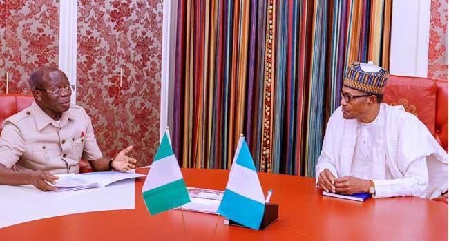 Buhari, Oshiomhole Meet Amid Suspension Drama