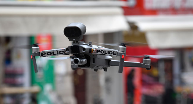 Police Use Drones To Ensure Coronavirus Confinement In France