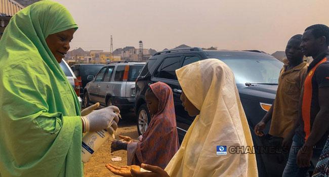 PHOTOS: Muslim Faithful Sanitise Their Hands Before Juma'ah Prayers