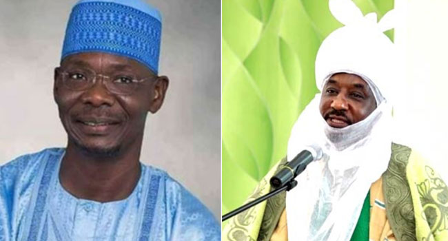Governor Sule Visits Deposed Emir Sanusi In Nasarawa