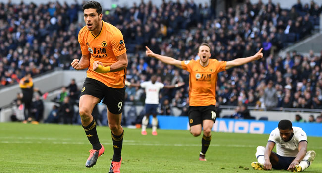 Jimenez Late Strike Seal Wolves Win Against Tottenham