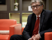 In this file photo US Microsoft founder, Co-Chairman of the Bill & Melinda Gates Foundation, Bill Gates, poses for a picture on October 9, 2019, in Lyon, central eastern France, during the funding conference of Global Fund to Fight AIDS, Tuberculosis and Malaria. JEFF PACHOUD / AFP