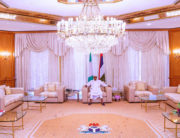 President Muhammadu Buhari met with the Minister of Health, Ehanire Osagie and NCDC boss, Chikwe Ihekweazu on Saturday, according to State House media.