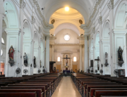 General view of an empty St Lucia's Cathedral in Colombo on March 15, 2020, following the Sri Lanka's Catholic church announcement to call off their masses as a preventive measure against the COVID-19 coronavirus. Ishara S. KODIKARA / AFP