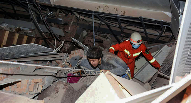 More Than 40 Rescued After Collapse Of Quarantine Facility In China