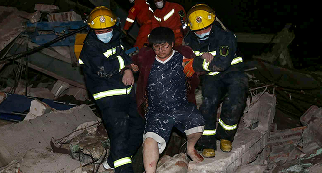 About 70 Trapped After Covid-19 Quarantine Building Collapses In China