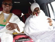 Former Emir of Kano, Muhammad Sanusi was with Kaduna Governor Nasir El-Rufai on Friday, March 13, 2020.
