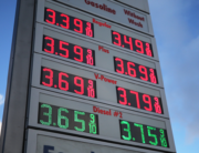 Gas prices are displayed at a Shell gas station on March 10, 2020 in Los Angeles, California. Mario Tama/Getty Images/AFP