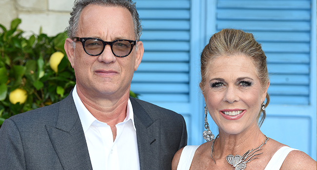 "In this file photo Tom Hanks and Rita Wilson pose on the red carpet upon arrival for the world premiere of the film ""Mamma Mia! Here We Go Again"" in London on July 16, 2018. Anthony HARVEY / AFP"