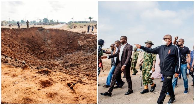 Akure Explosion: Akeredolu Visits Scene, Explains Cause