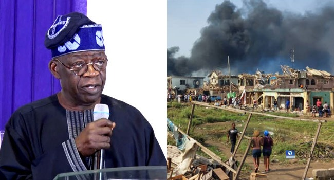 Those Who Have Hand In Abule-Ado Blast Must Be Punished – Tinubu
