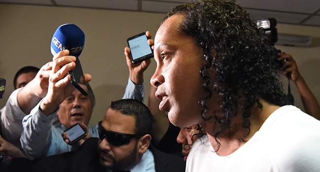 Detained Ronaldinho 'Did Not Know' Passport Was Fake – Lawyer