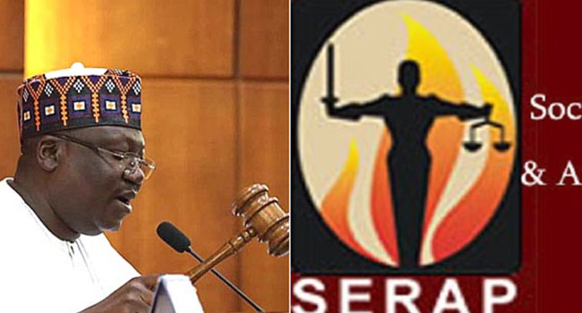 SERAP Asks Lawan To Drop Bill To Give 'Repentant Terrorists' Foreign Education