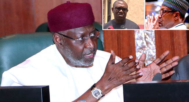Peter Obi Sympathises With Buhari, Abba Kyari's Family