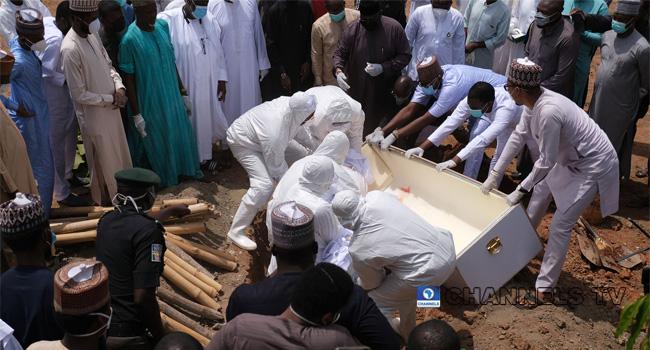 [UPDATED] PHOTOS: Abba Kyari Buried In Abuja