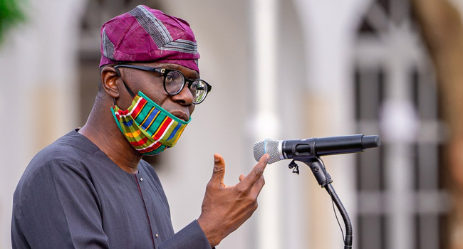A file photo of Lagos state Governor, Babajide Sanwo-Olu.