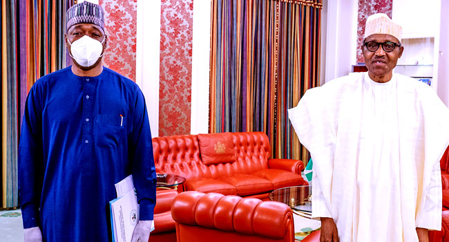 PHOTOS: Zulum Briefs Buhari On Military Operations In Lake Chad