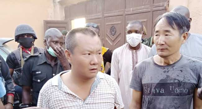Police Arrest Two Chinese Nationals For Illegal Mining Activities In Zamfara