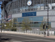 The Etihad Stadium complex, home to English Premier League football team Manchester City, is pictured in Mancheser, northen England on April 21, 2020, as life in Britain continues during the nationwide lockdown to combat the novel coronavirus pandemic. Paul ELLIS / AFP