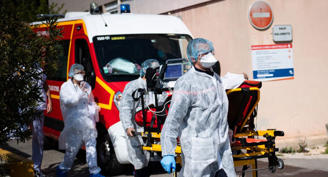 France Reports 588 More COVID-19 Deaths