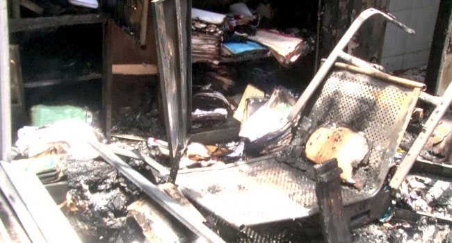 Fire Guts Section Of INEC Headquarters In Abuja