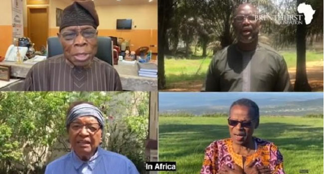 Coronavirus: Obasanjo, George Weah, Other African Leaders Feature In New Song On African Solidarity