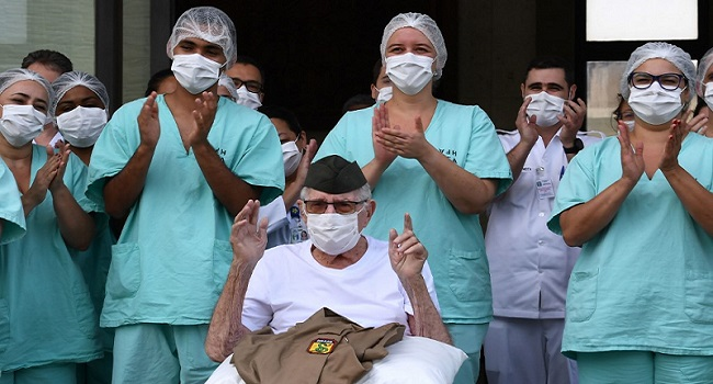99-Year-Old World War II Veteran Beats COVID-19 In Brazil