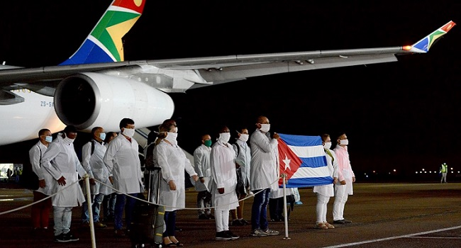 Over 200 Cuban Health Experts Arrive In South Africa For COVID-19 Fight
