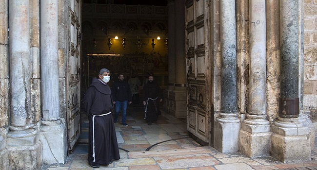 Muted Easter Sunday At Jerusalem's Church Of Holy Sepulchre