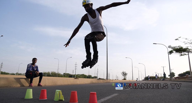 PHOTOS: Abuja Residents Keep Fit As Lockdown Persists