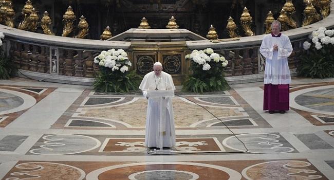 Pope Marks 'Easter Of Solitude' In Virus Lockdown