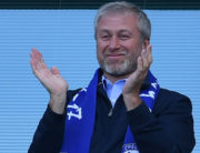 In this file photo taken on May 21, 2017 Chelsea's Russian owner Roman Abramovich applauds, as players celebrate their league title win at the end of the Premier League football match between Chelsea and Sunderland at Stamford Bridge in London. Ben STANSALL / AFP