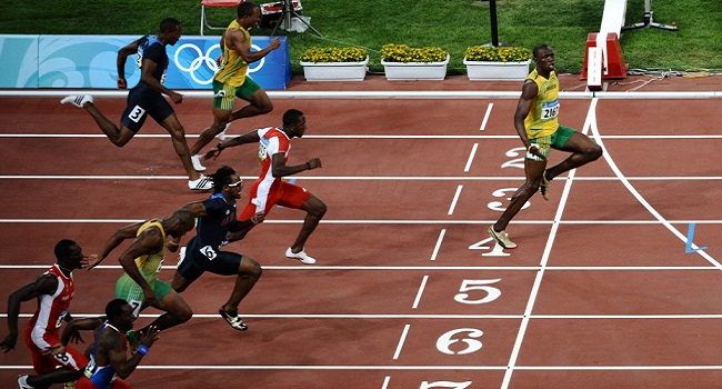 Usain Bolt Goes Viral With 'Social Distancing' Olympic Photo