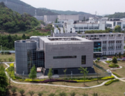 An aerial view shows the P4 laboratory at the Wuhan Institute of Virology in Wuhan in China's central Hubei province on April 17, 2020. Hector RETAMAL / AFP