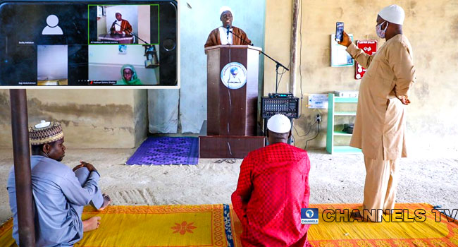 PHOTOS: Cleric Conducts Virtual Eid Sermon As Muslims Shun Praying Grounds