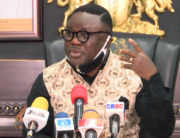 Cross River state Governor, Ben Ayade, cried during a press conference on May 21. 2020, while decrying the state of poverty in the state.