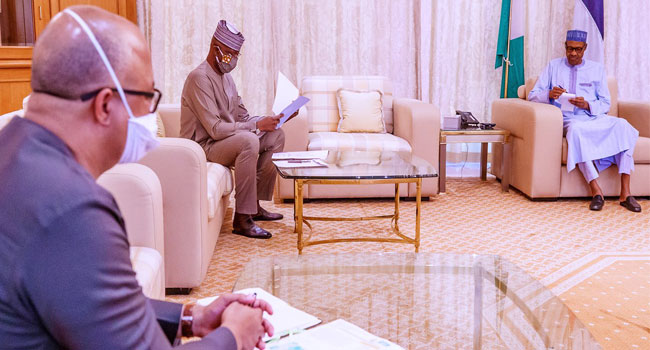 COVID-19: Buhari Receives Briefing From PTF Delegation