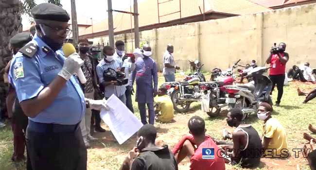 PHOTOS: Police Parade Suspected IPOB Members, Cultists In Delta
