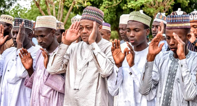 PHOTOS: Muslims Hold Congregational Eid Prayer In Katsina