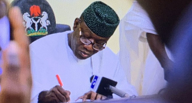 Fayemi Signs Bill On Children Sexual Violence
