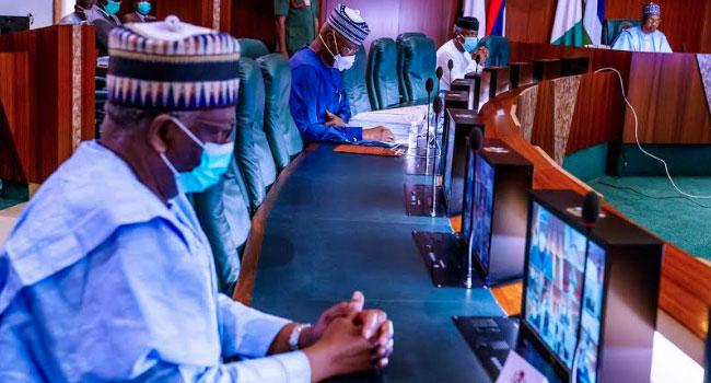 PHOTOS: Buhari's New Chief Of Staff, Gambari Attends First FEC Meeting