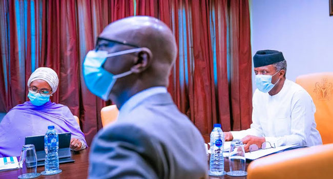 PHOTOS: Osinbajo Presides Over Virtual NEC Meeting