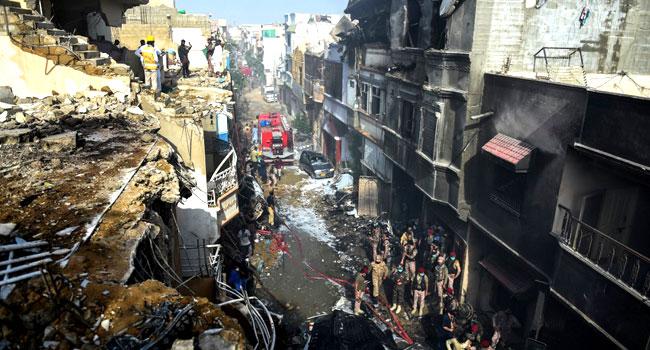 Plane crash, Fully-Loaded Passenger Plane Crashes In Pakistan