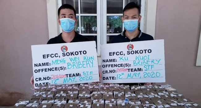 EFCC Arrests Two Chinese For Offering N100m Bribe To Top Official