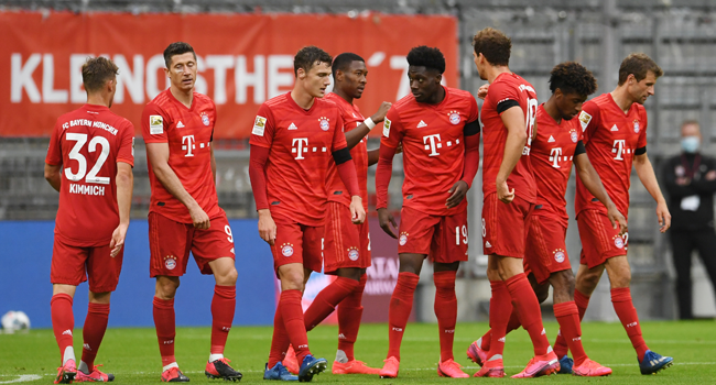 Bundesliga: Bayern Defeat Frankfurt To Remain Four Points Clear
