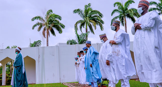 President Buhari, Family Observe Eid Prayers At Home